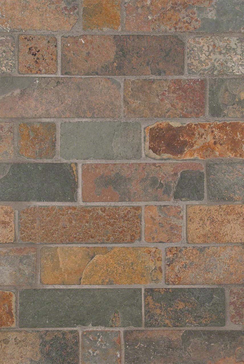 California Gold Tumbled Brick Design