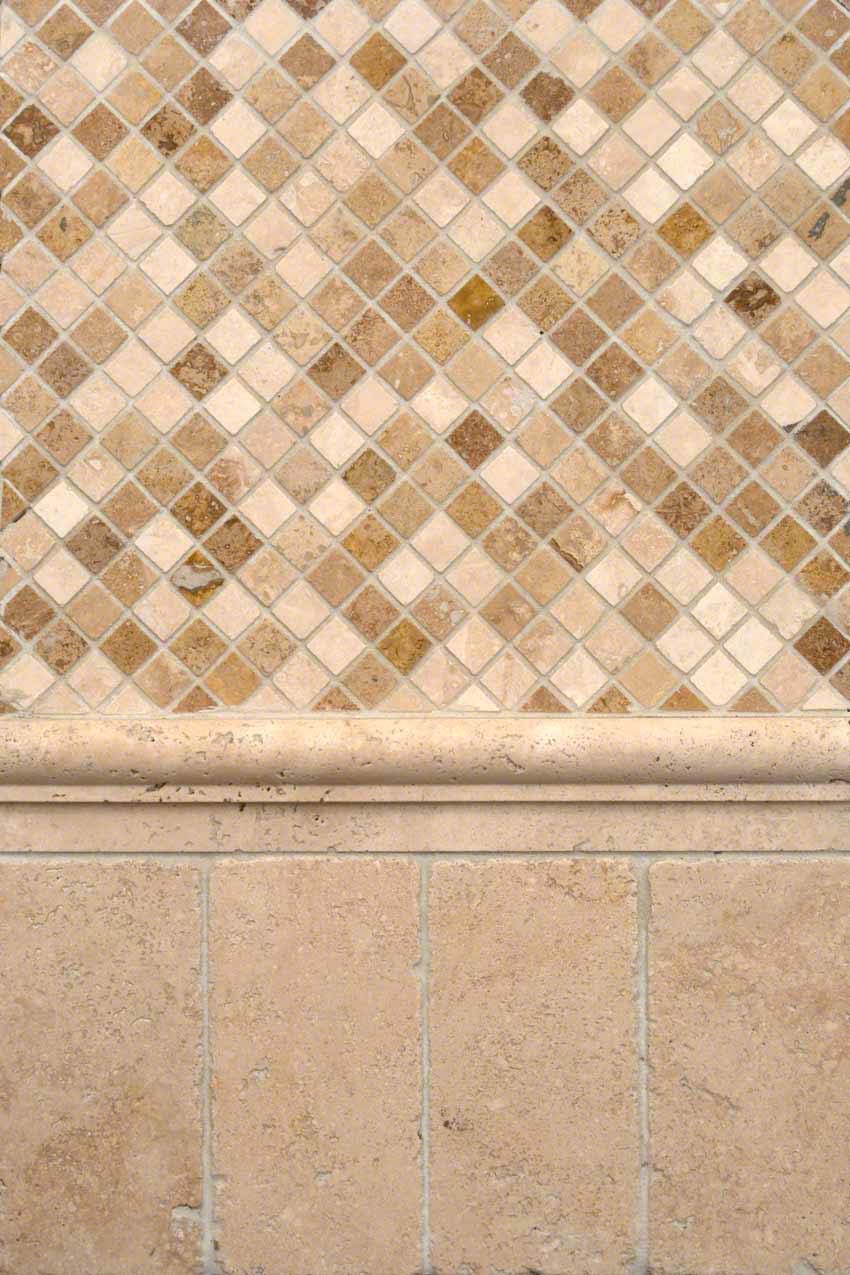 Chiaro and Noce Travertine Medley