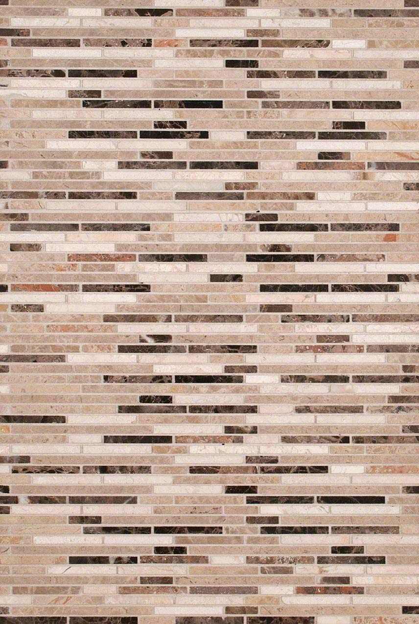 Emperador Blend Bamboo Marble Backsplash Design