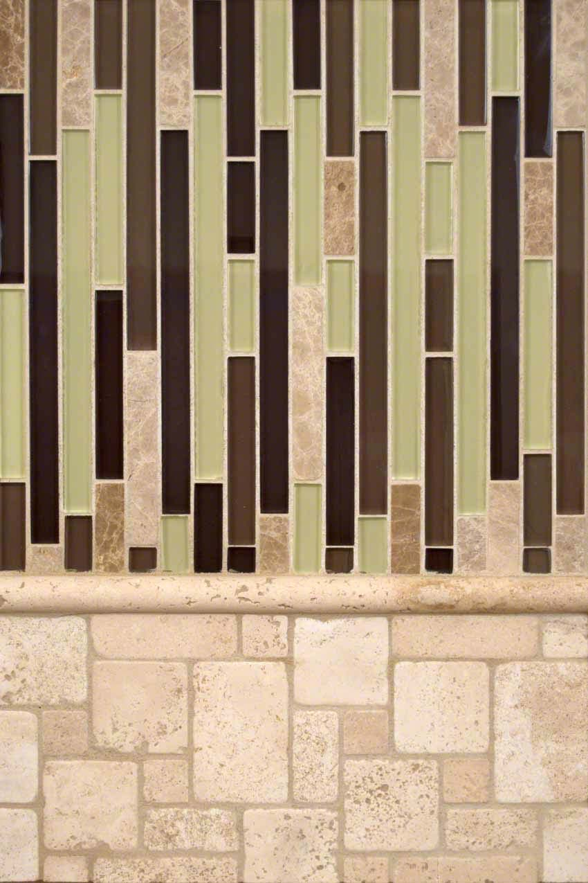 Ivory Travertine and Aspen Interlocking Montage