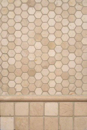 Crema Marfil Marble Trio Backsplash Design