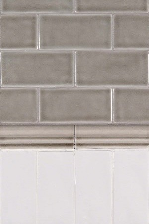 Dove Gray and Whisper White Backsplash Design