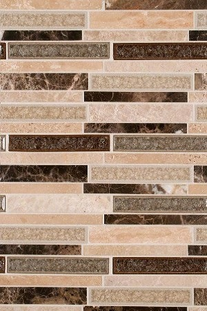 Stonegate Glass Stone Blend Backsplash Design