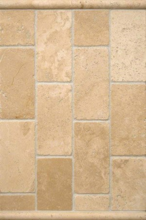 Classic Travertine Subway Tiles with a Contemporary Twist