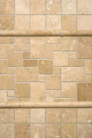 Versailles Pattern Ivory Travertine Trio