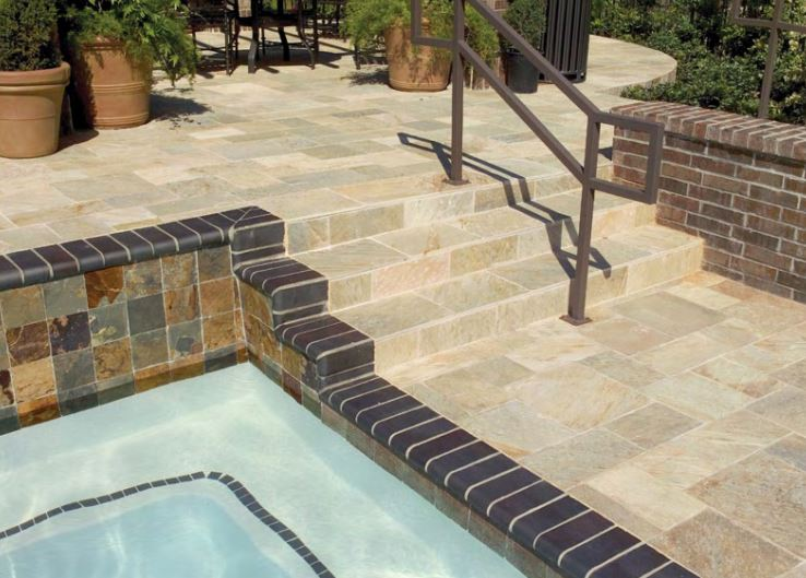 slate tile rustic elegance for inside and out