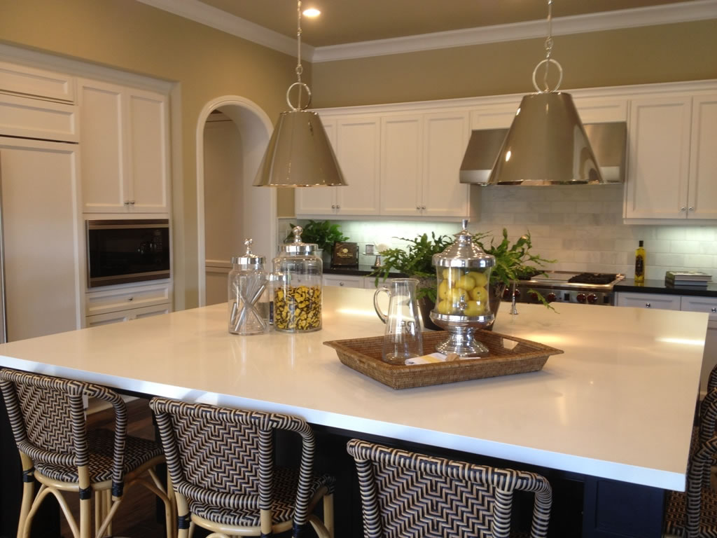 Quartz Kitchen Countertops : Mixing materials customize your kitchen wit