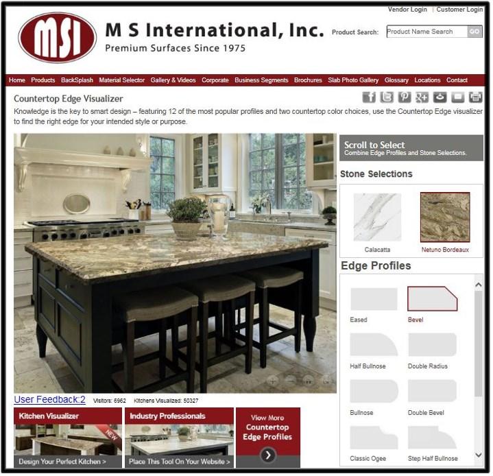 Countertop Edge Visualizer and Kitchen Visualizer | MSI