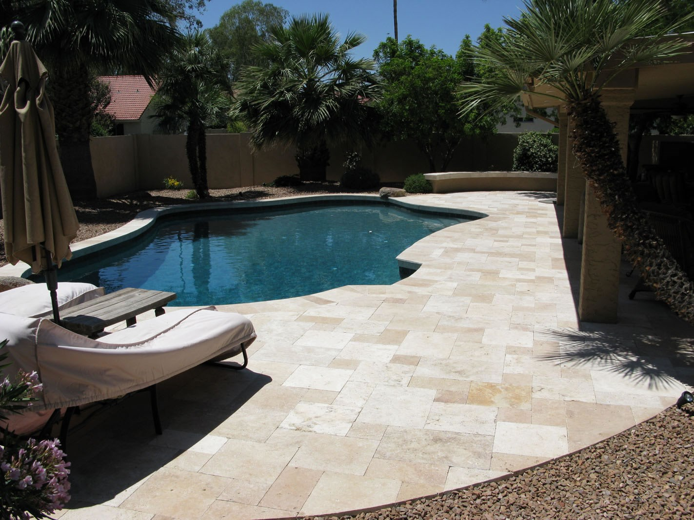 Travertine Pavers Offer Timeless Beauty