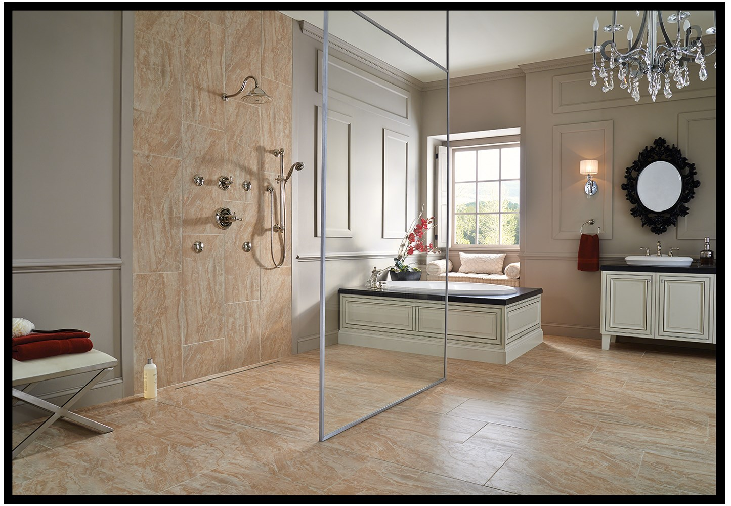 Pictures suitable for bathroom walls - Living Large With Oversized Tiles