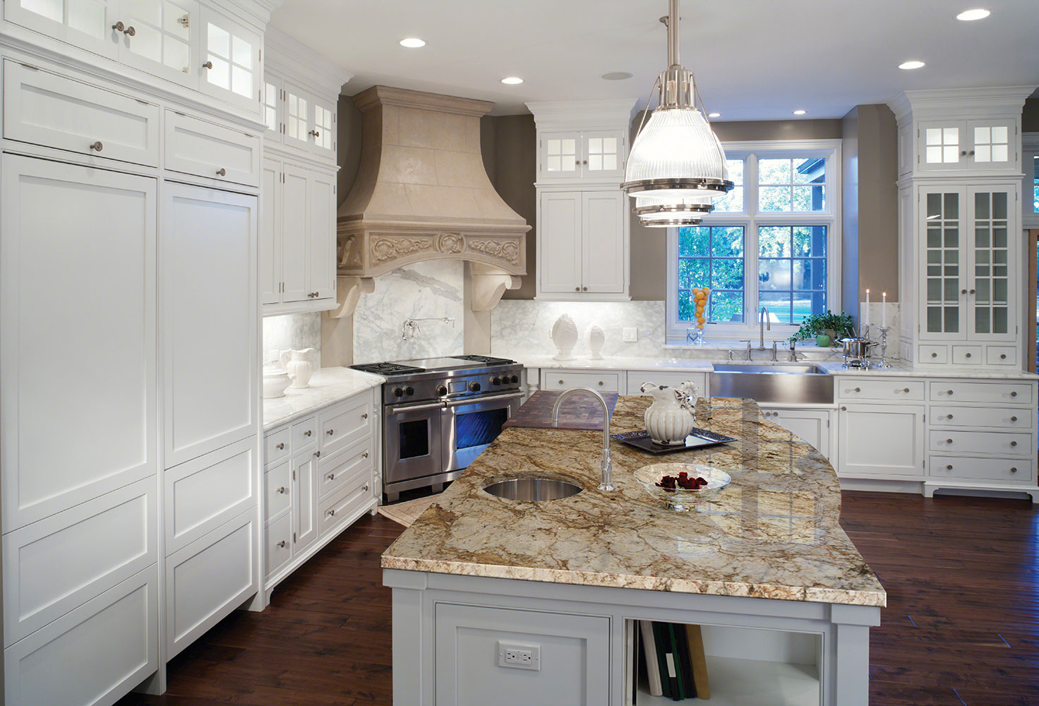 2015 Hot Kitchen Trends – Part 1: Cabinets & Countertops Different Color Kitchen Countertops on different color trim, different color islands, different color tile, blue color kitchen countertops, different color paint, different color flooring, one color kitchen countertops, different color stone,