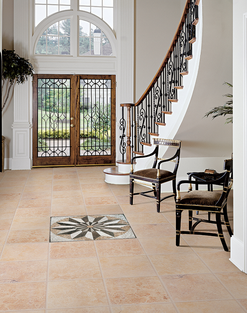 Foyer Flooring Trends : Tile flooring first impressions start with t