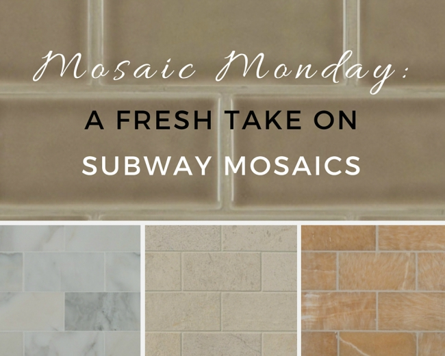 Mosaic Monday: A Fresh Take On Subway Mosaics