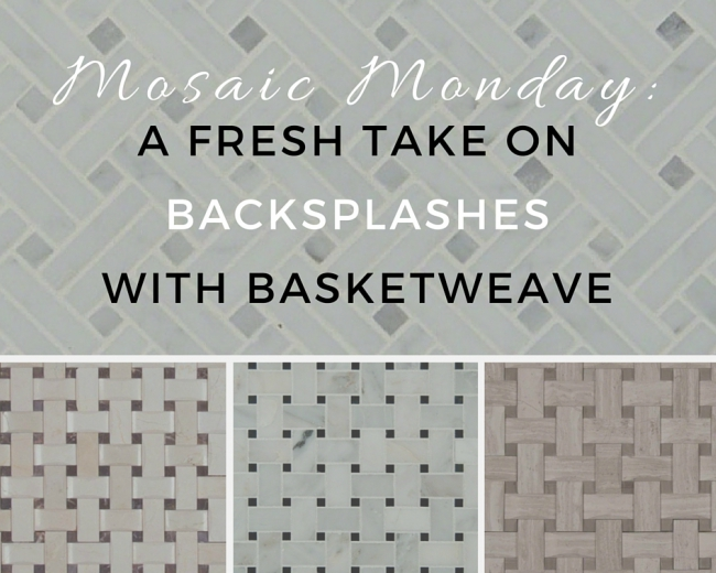 Type In The Phrase Basketweave Tile Onto Pinterest And Chances Are You Ll See A Slew Of Gorgeous Design Photos What Do They All Have Common