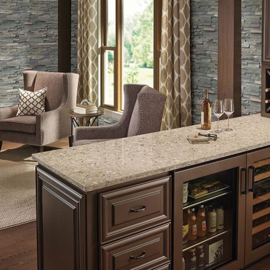 Cream Colored Kitchen Cabinets With Dark Floors