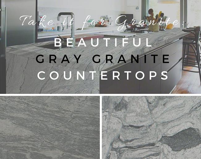 Gray Stone Countertops : Take it for granite beautiful gray countertops