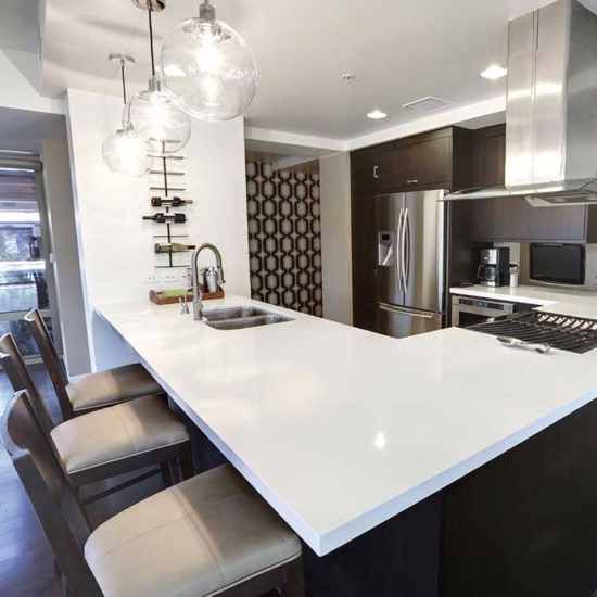 Current Obsessions A Modern Makeover With Quartz Countertops