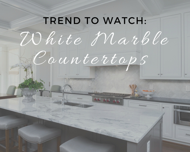 Trend to Watch: White Marble Countertops