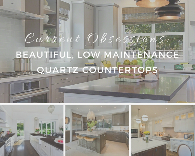 current obsessions: beautiful, low maintenance quartz countertops
