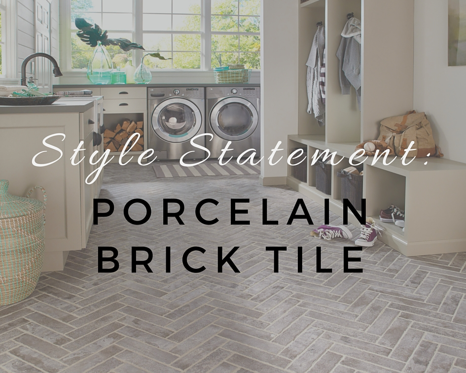 Kitchen Tiles Brick Style style statement: porcelain brick tile