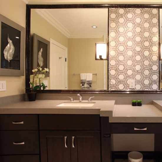 Bathroom Quartz current obsessions: bathroom beauties with quartz countertops