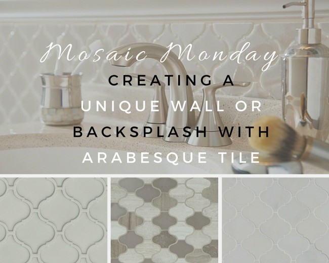 Creating A Unique Wall Or Backsplash With Arabesque Tile Msi Blog