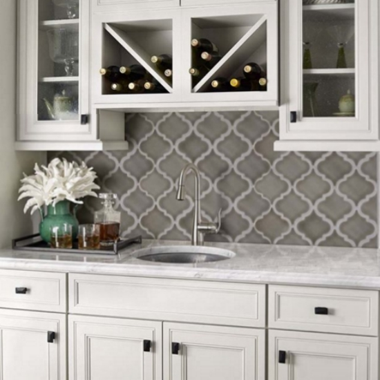 monday creating a unique wall or backsplash with arabesque tile