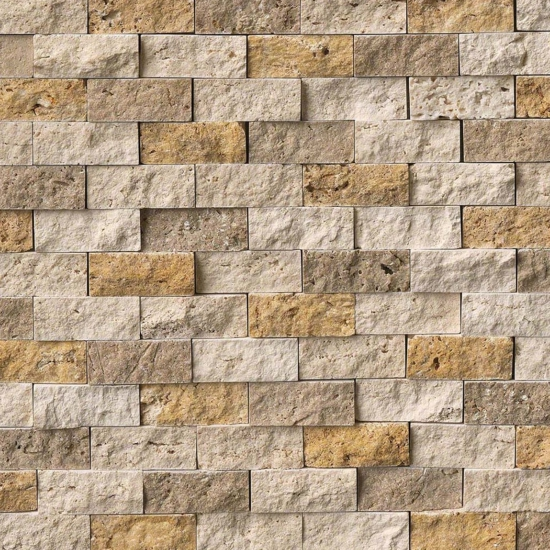 Featured Mixed Travertine Splitface