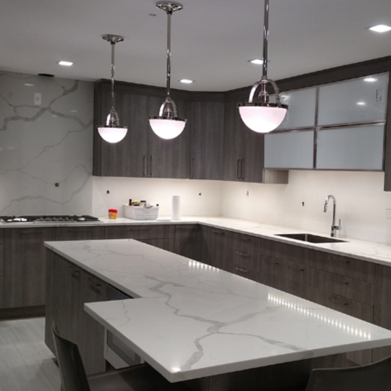 White And Gray Quartz Countertops