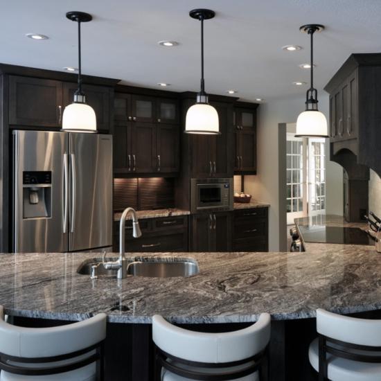 Take it for granite modern granite countertops - Modern luxury kitchen with granite countertop ...