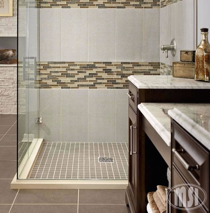 Mosaic Monday: Bathroom and Shower Floor Mosa