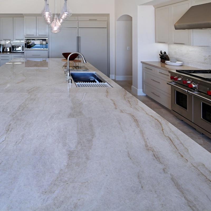 Look Of Marble Durable Versatile Natural Quartzite Countertops