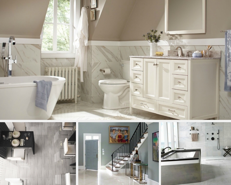 Tile Style: White Marble Madness