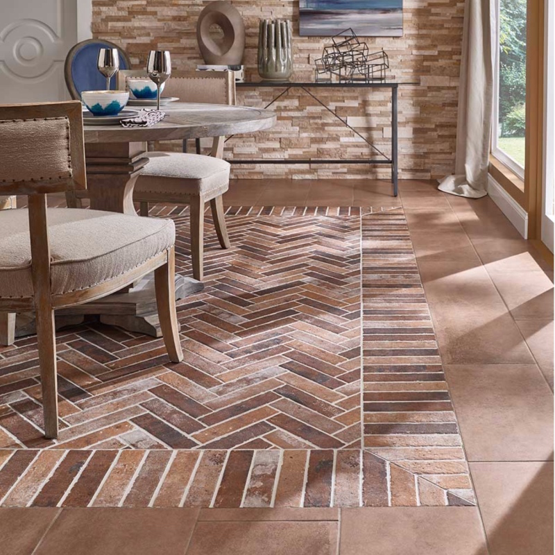 Brick Look Porcelain Tile Floor