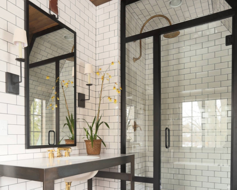 7 Inspired Designs in Classic Black and White Porcelain Tile