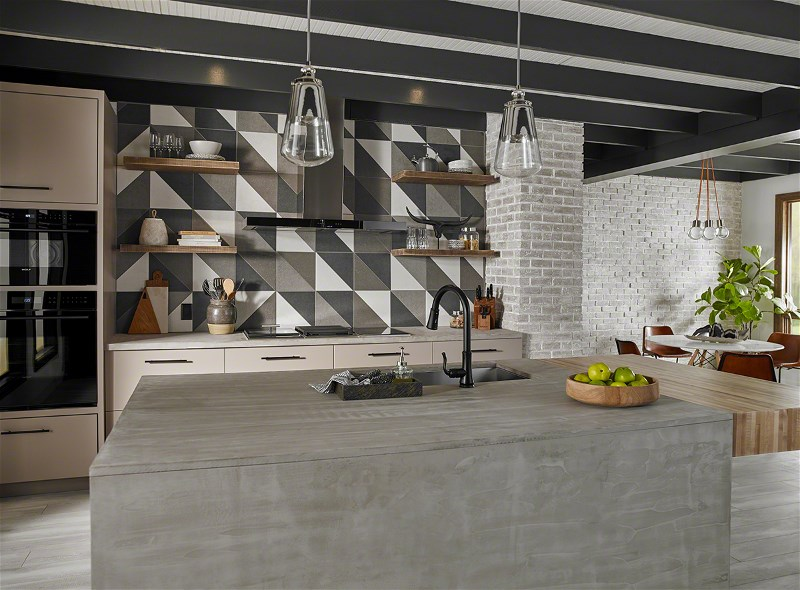 A Style Star Takes Shape in Geometric Tile