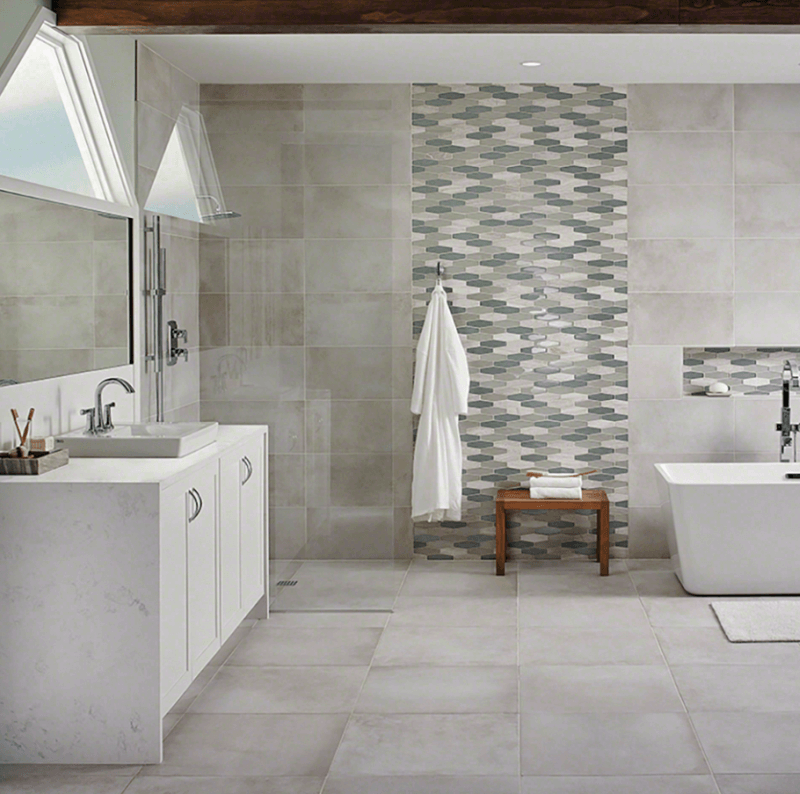 Innovative  8cm Linear Wall Tile By BCT British Ceramic Tile  Brooke Ceramics