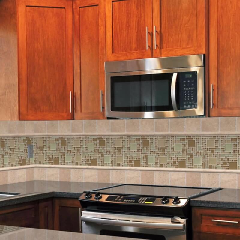Kitchen Backsplash With Glass Tile Accents: 6 Stylish Glass Tile Mosaics For Backsplash, Accent Wall
