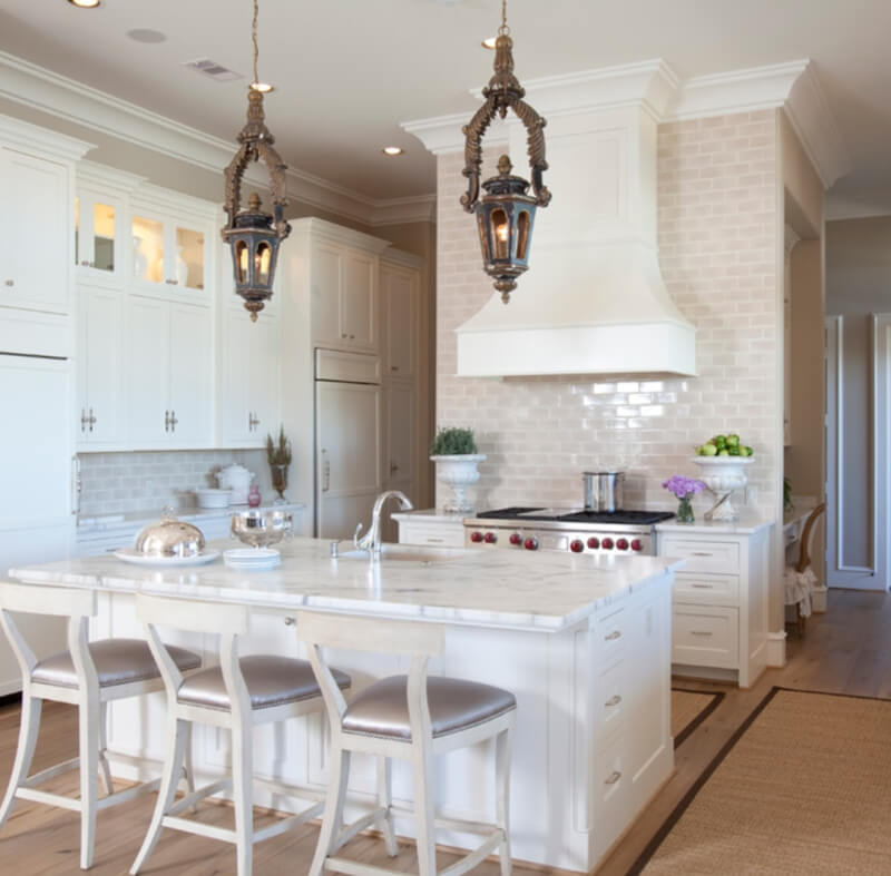 Featured Almond Glossy Subway Tile Photo Credit Houzz