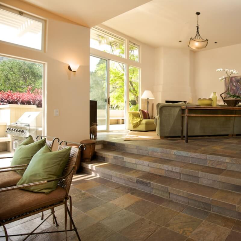 Get This Look With Msi S California Gold Slate Photo Credit Houzz