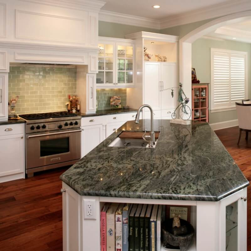Featured Caribbean Green Granite Photo Credit Houzz