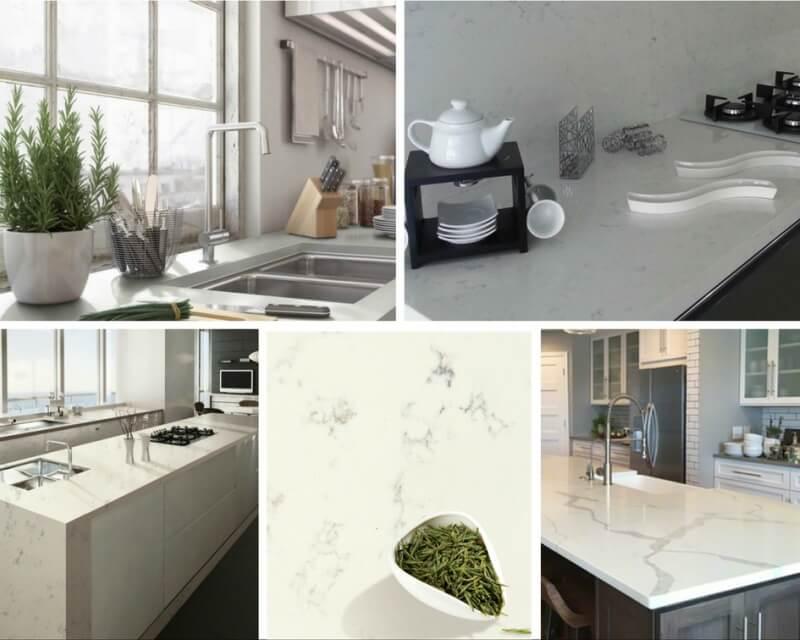 Marble Lookalike Quartz Countertops