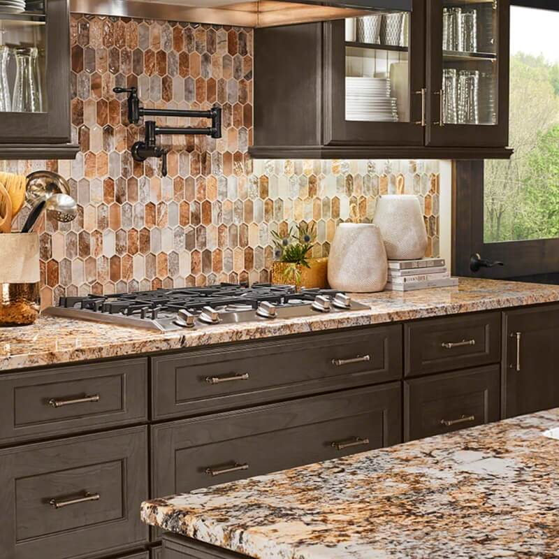 Featured Caravelas Gold Granite And Taos Picket Mosaic