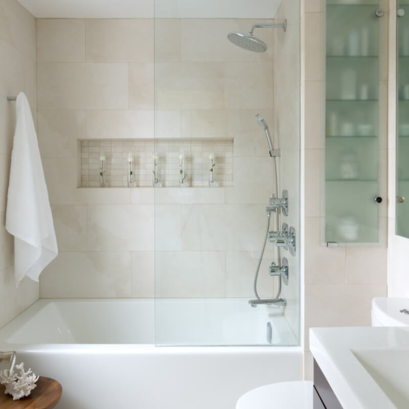 Recreate this look with MSI's Ice Porcelain (Photo credit: Houzz)