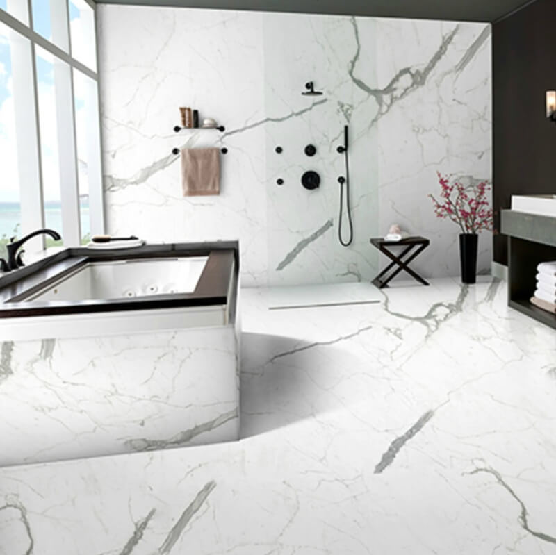 Featured Statuario Polished Porcelain