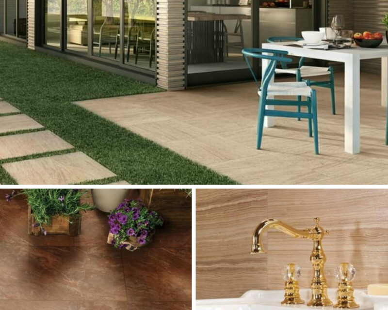 Tile Style: Porcelain Tile, Look of Vein-Cut