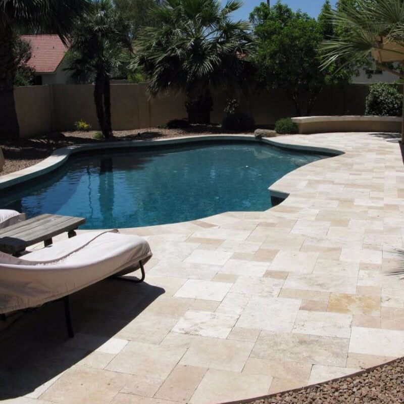 Are Travertine Tiles And Pavers Interchangeable For Outdoor Use