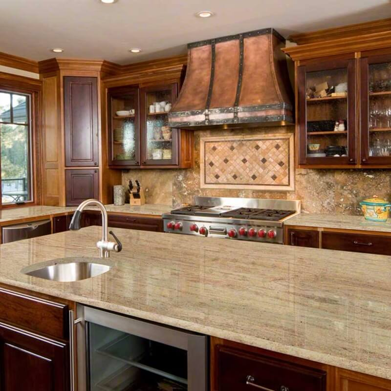 Light Brown Kitchen Cabinets: 5 Perfect Kitchen Countertop And Flooring Matches For Dark