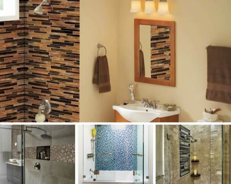 5 Glass Tile Mosaics That Will Stand Up To Bathroom Dampness