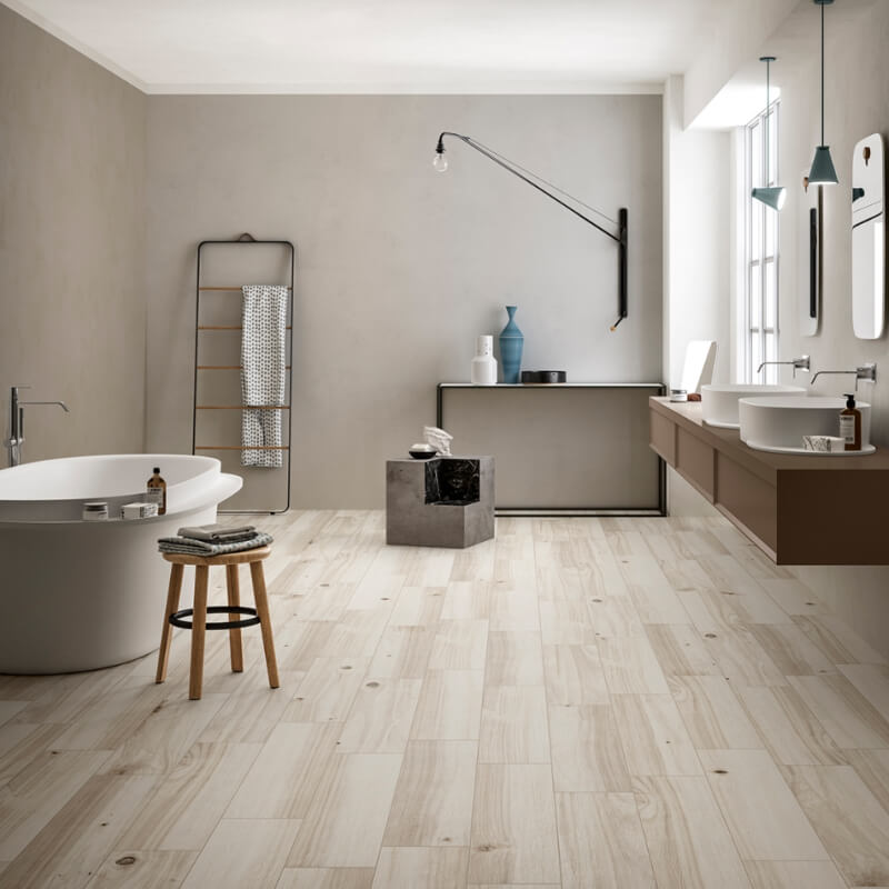 Modern Wood And Stone Look Porcelain Tile